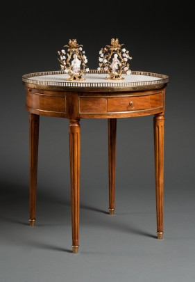 Table Bouillotte et son Bouchon - Louis XVI Salontisch