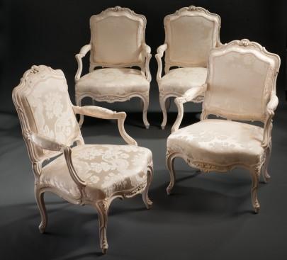 A Set of four Fauteuils