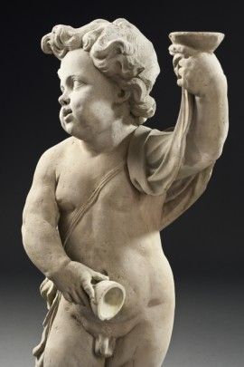 Putto with a dog & Putto with a beaker