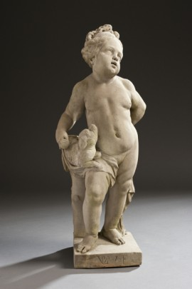 Putto mit Hund & Putto mit Becher